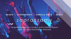 Spotkania Wspólnoty – środy 19:00 na żywo oraz transmisja online